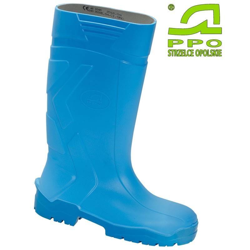 Buty całotworzywowe bezpieczne z poliuretanu z metalowym podnoskiem S4 wz.1045