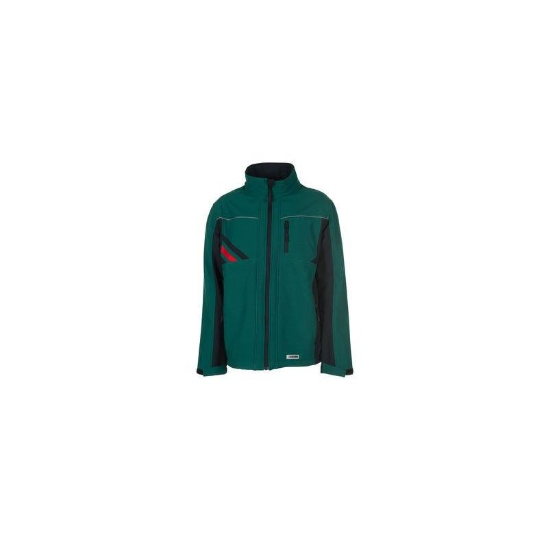 HIGHLINE Kurtka softschell PLANAM /zielony-czarny-czerwony/
