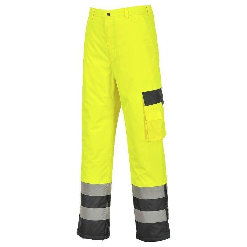 Spodnie ostrzegawcze ocieplane dwukolorowe S686