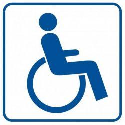 Miejsce dla inwalidów na wózkach.Folia samoprzylepna. 10,5x 10,5