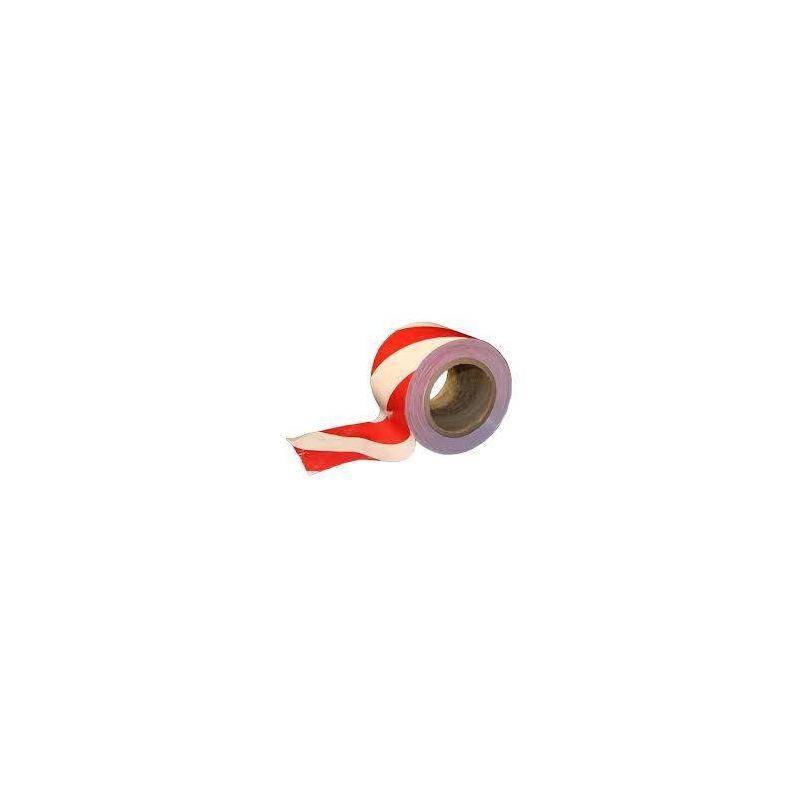 Taśma ostrzegawcza biało-czerwona 500 m