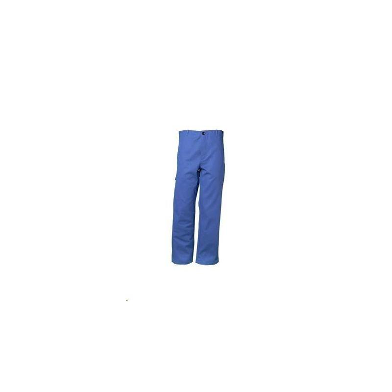 Spodnie do pasa dla spawaczy PLANAM 400 g/m2 /chabrowy/