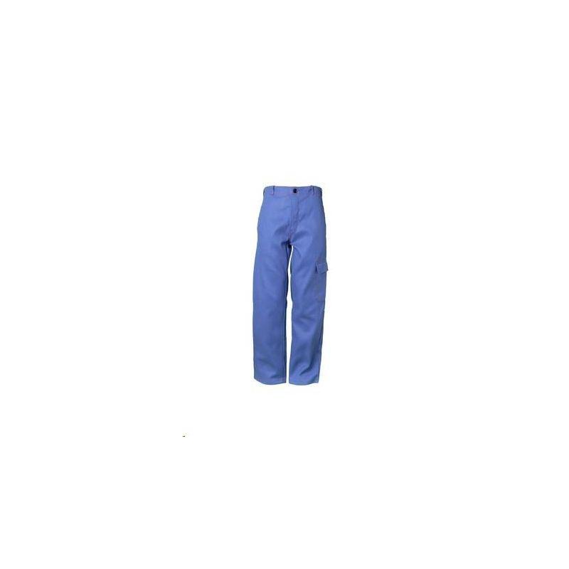 Spodnie do pasa dla spawaczy PLANAM 500 g/m2 /chabrowy/