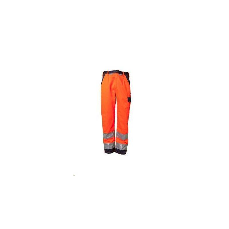 Spodnie do pasa dwukolorowe ostrzegawcza PLANAM /pomarańczowy-granatowy/