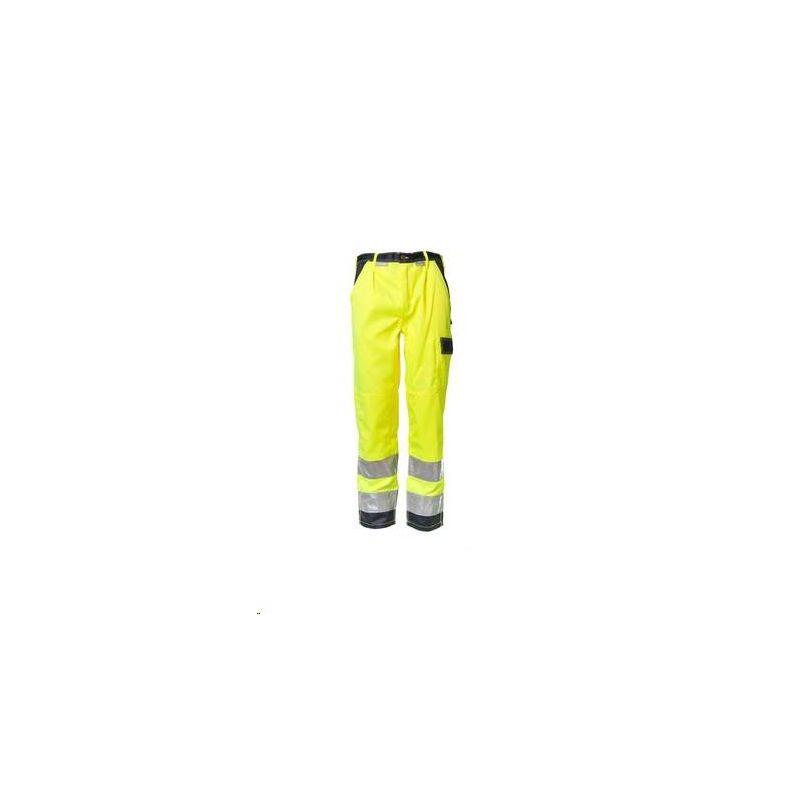 Spodnie do pasa dwukolorowe ostrzegawcze PLANAM /żółty-granatowy/