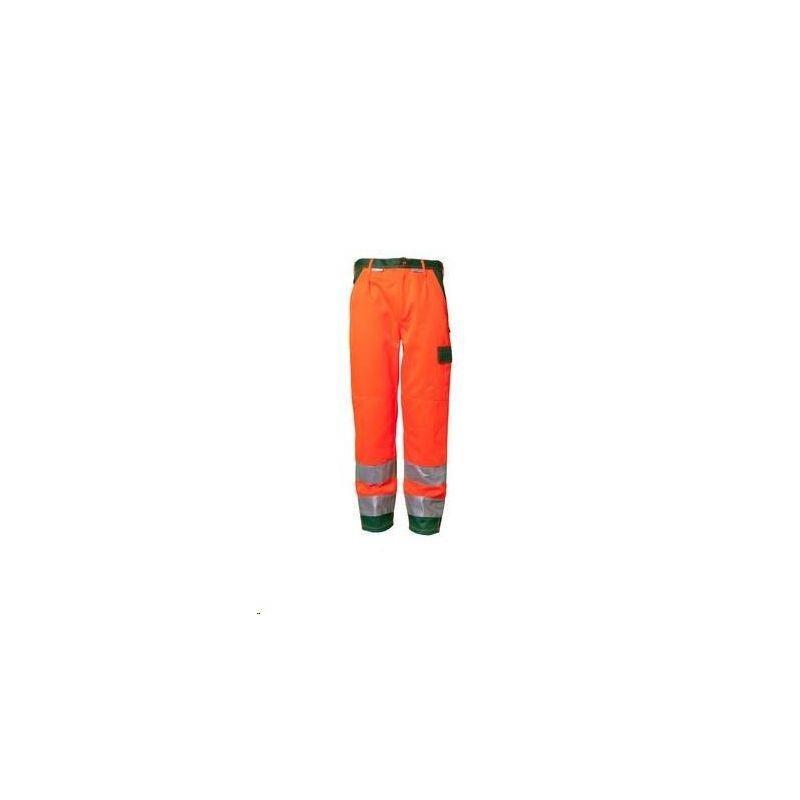 Spodnie do pasa dwukolorowe ostrzegawcze PLANAM /pomarańczowy-zielony/