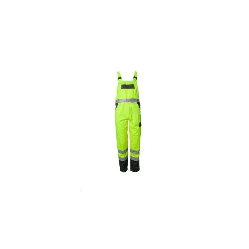 Spodnie ogrodniczki dwukolorowe ostrzegawcze PLANAM /żółty-granatowy/