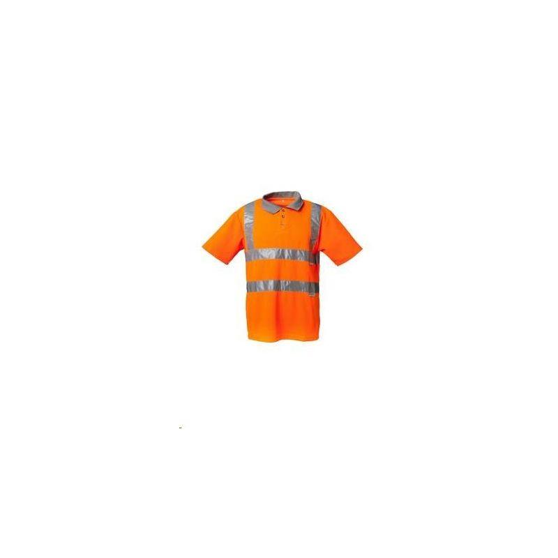 Koszulka polo dwukolorowa PLANAM /pomarańczowy-szary/