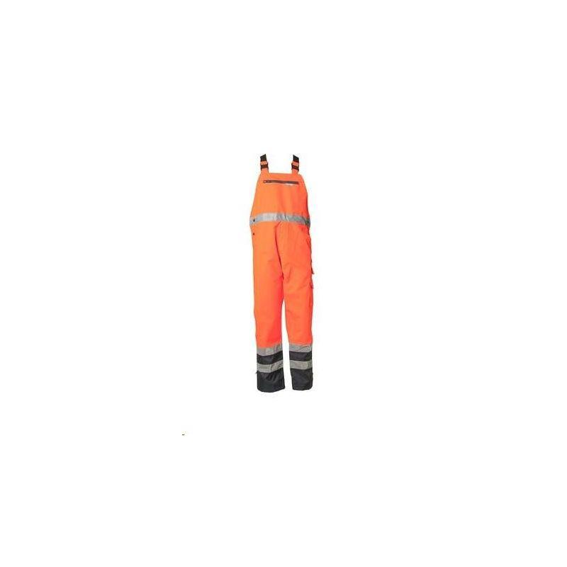 Spodnie ogrodniczki dwukolorowe przeciwdeszczowe PLANAM /pomarańczowy- granatowy/