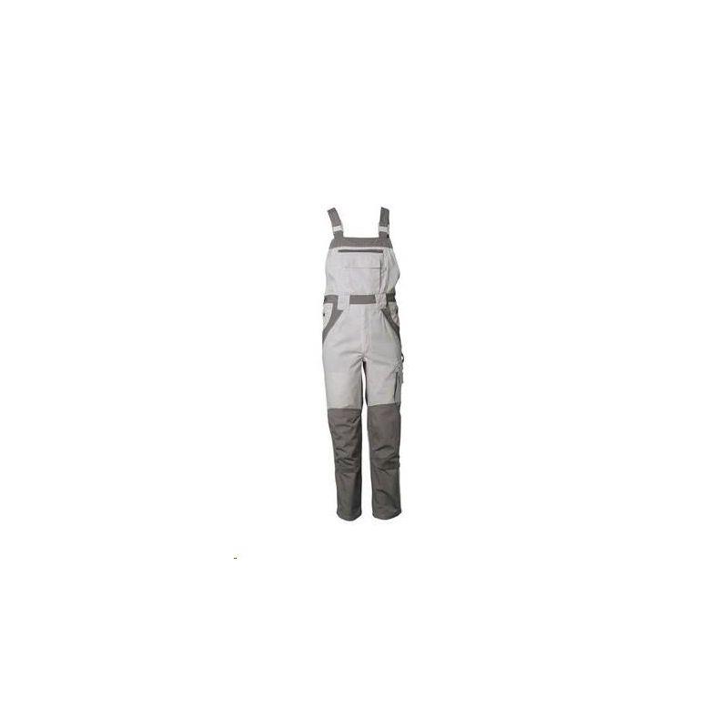 PLALINE Spodnie ogrodniczki Planam /czysta biel-cynkowy/