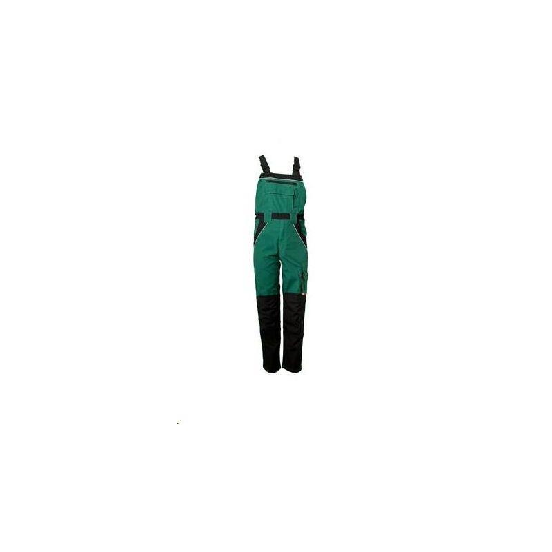 PLALINE Spodnie ogrodniczki Planam /zielony-czarny/