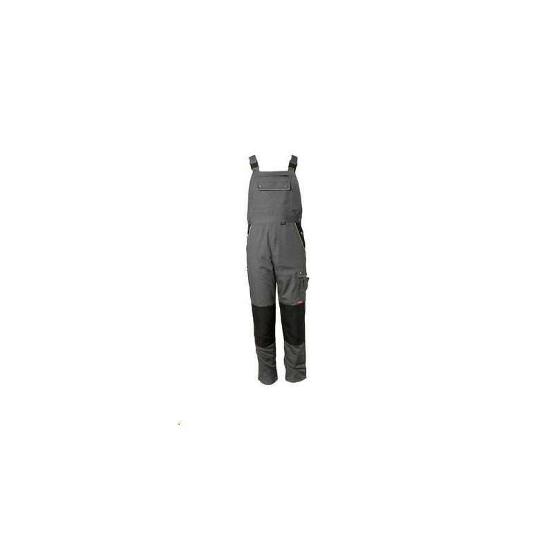 CANVAS 320 Spodnie ogrodniczki Planam /szary-czarny/