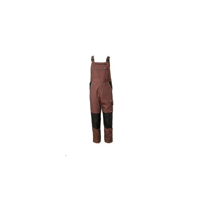 CANVAS 320 Spodnie ogrodniczki Planam /brązowy-czarny/