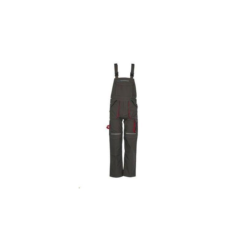 BASALT Spodnie ogrodniczki PLANAM /oliwkowy-czerwony/