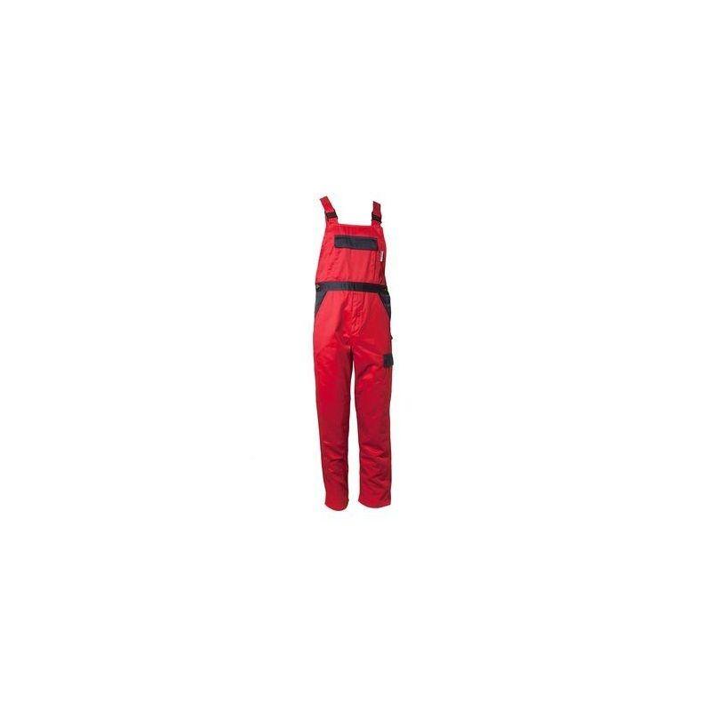 TRISTEP Spodnie ogrodniczki Planam /czerwony-granatowy/