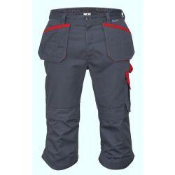 Spodnie monterskie 3/4 STERNIK /popielato-czerwona/