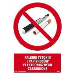 Palenie tytoniu i papierosów elektronicznych zabronione.Płyta 14,8x21