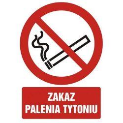 Zakaz palenia tytoniu. Płyta 21x29,7