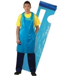 Fartuch foliowy na roli 150x90 25 mm A'100 niebieski