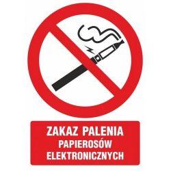 Zakaz palenia papierosów elektronicznych. Znak folia 10,5x14,8