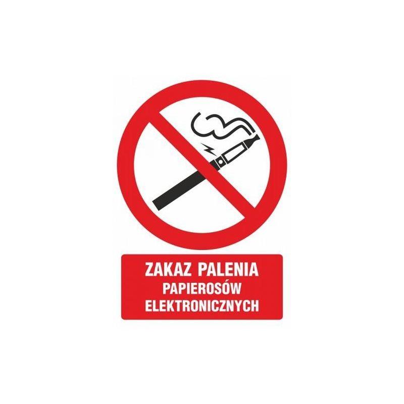 Zakaz palenia papierosów elektronicznych. Płyta 10,5x14,8