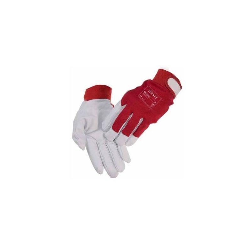 Rękawice InSafe Velcro z koziej skóry na rzep