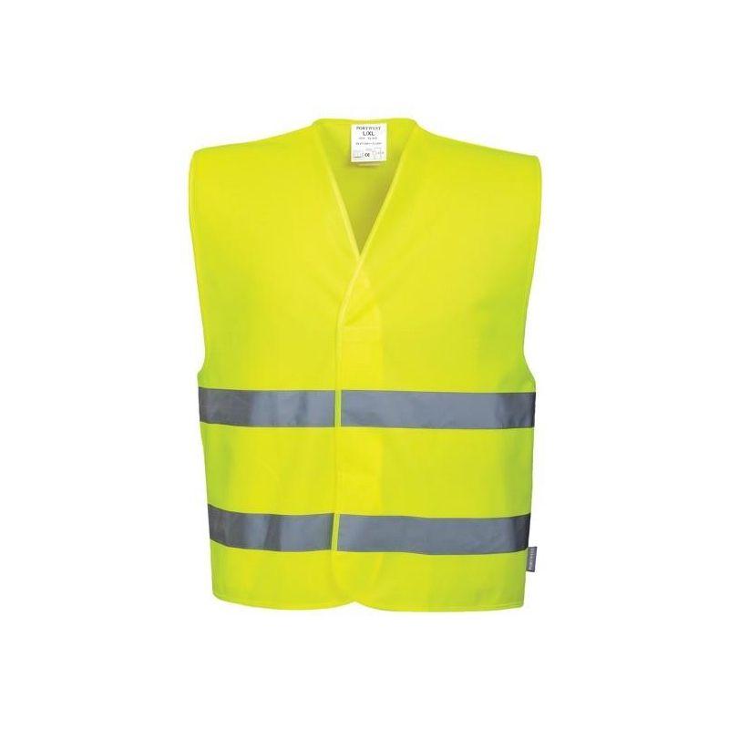 Kamizelka ostrzegawcza z pasami odblaskowymi żółta C474