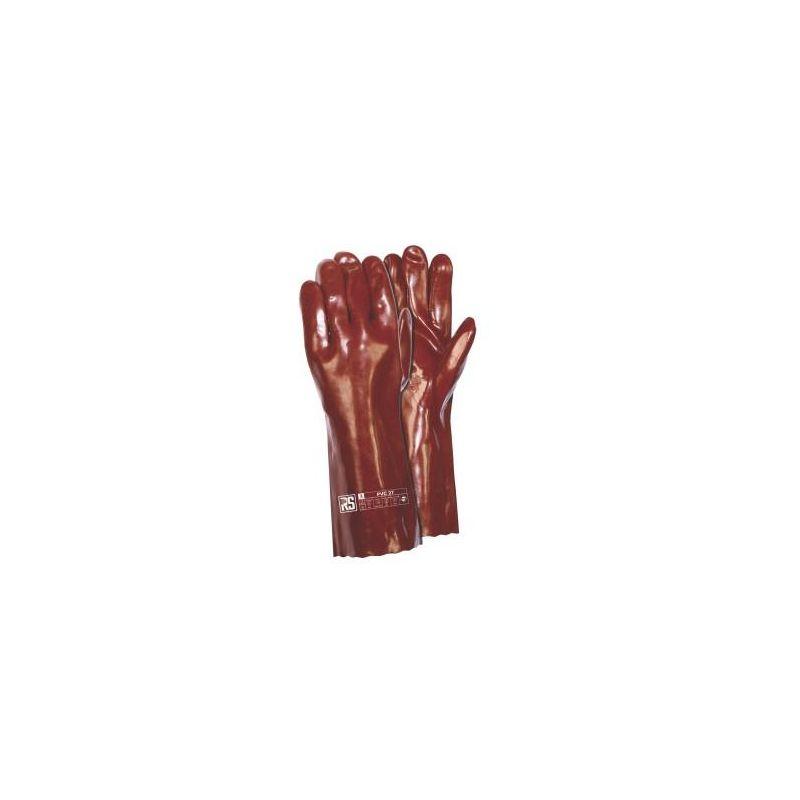 Rękawice RS PVC 40 cm GRANAT
