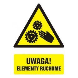 Uwaga! Elementy ruchome. Folia samoprzylepna 10,5 x 14,8 cm