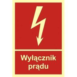 Wyłącznik prądu. Płyta 15x22