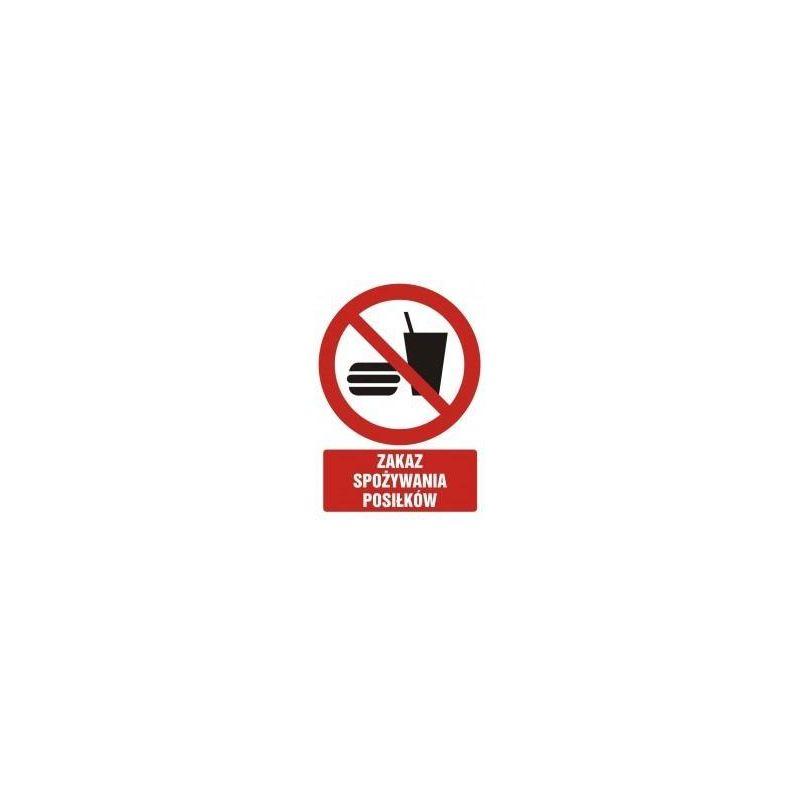 Zakaz spożywania posiłków. Płyta 10,5x14,8