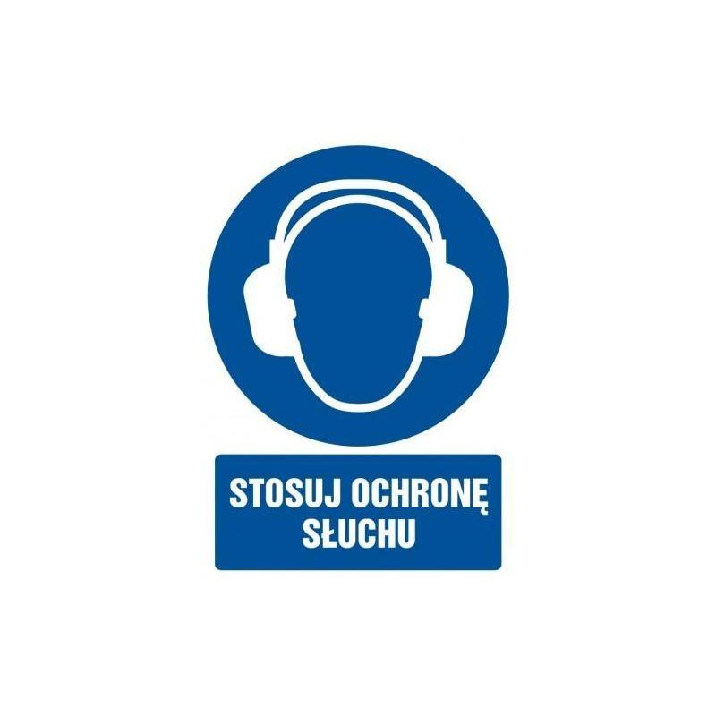Stosuj ochronę słuchu. Folia 10,5x14,8