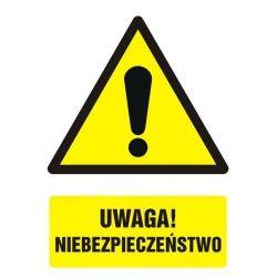 UWAGA! Niebezpieczeństwo. Folia 7,5x10,5