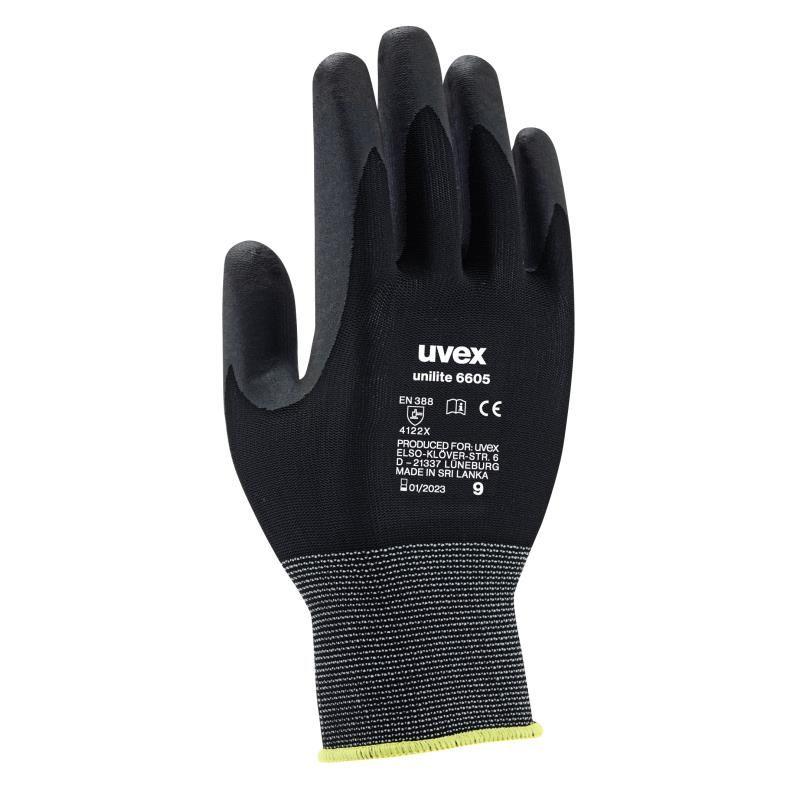 Rękawice unilite 6605 Uvex z pianki  nitrylowej