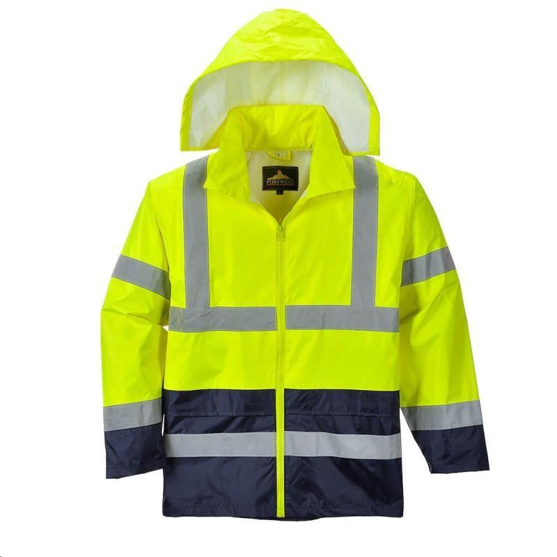 Klasyczna kurtka przeciwdeszczowa ostrzegawcza H443