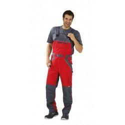 PLALINE spodnie ogrodniczki PLANAM /czerwono-łupkowe/