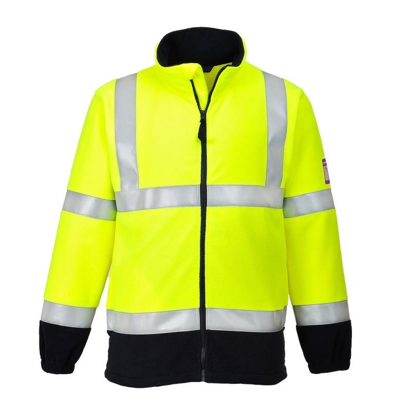 FR31 - Bluza polarowa ostrzegawcza trudnopalna i antyelektrostatyczna