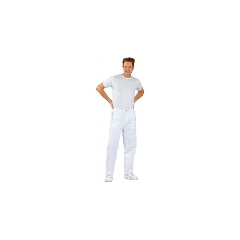 FOOD Spodnie męskie do pasa białe dla p/spożywczego PLANAM