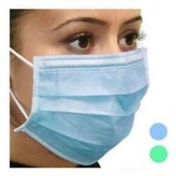Maska chirurgiczna 3-warstwowa niebieska A'50