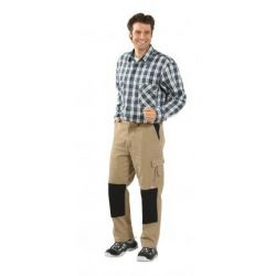 CANVAS Spodnie do pasa PLANAM /khaki-czarne/