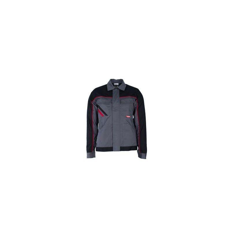 HIGHLINE Bluza robocza damska PLANAM /łupkowo-czarno-czerwone/