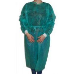 Fartuch na troki niebieski ze ściągczem bawełnianym