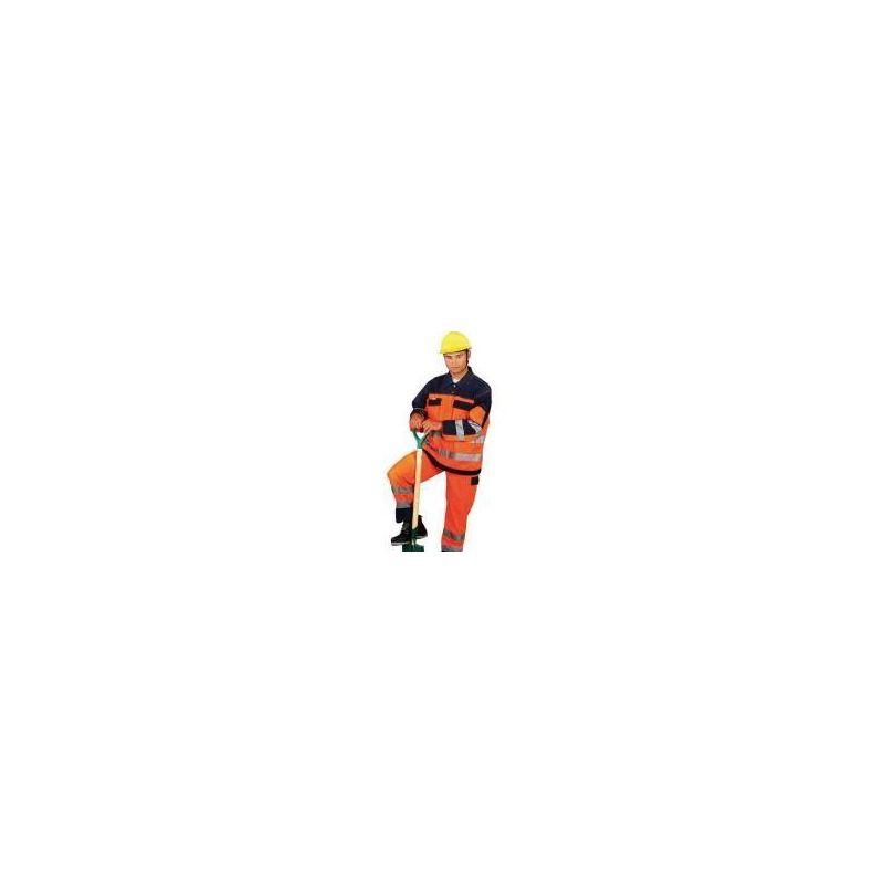 Ubranie ocieplane pomarańczowo-granatowe z taśmami odblaskowymi 3M