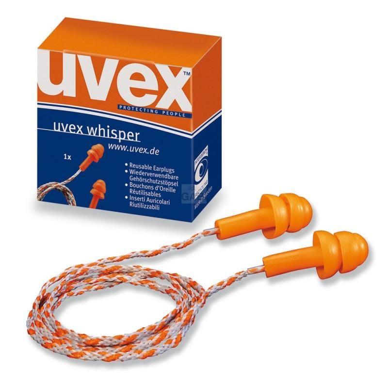 Zatyczki do uszu ze sznurkiem w pudełeczku UVEX WHISPER 2111.201