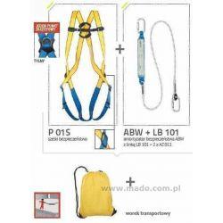 Zestaw BASIC S (szelki+ amortyzator bezpieczeństwa z linką i zatrzaśnikami+ worek transportowy)