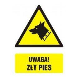 Uwaga! Zły pies. Płyta 27,5x22,5 cm