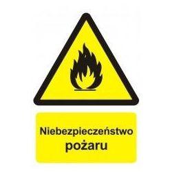 Niebezpieczeństwo pożaru-materiały łatwopalne. Płyta 29,7x42 cm