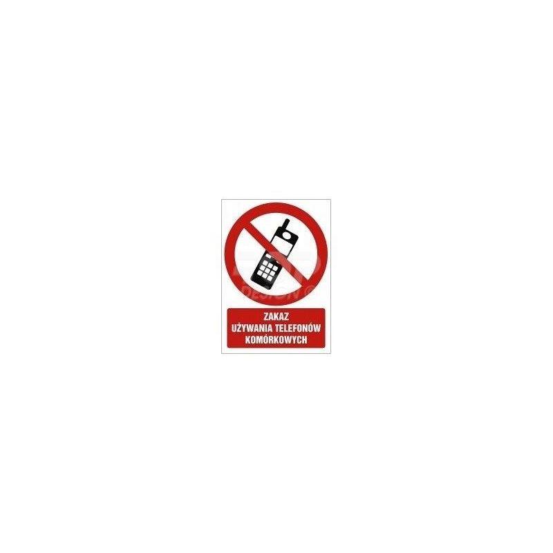 Zakaz używania telefonów komórkowych. Płyta fluorestencyjna 29,7x22,5 cm