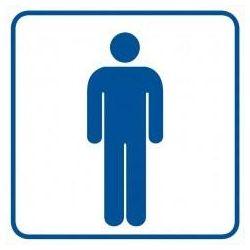WC-męski. Folia samoprzylepna 10,5x10,5 cm