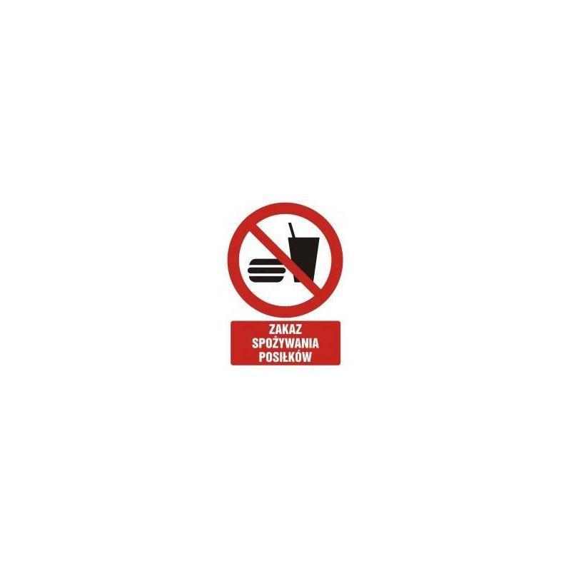 Zakaz spożywania posiłków. Płyta 27,5x22,5 cm